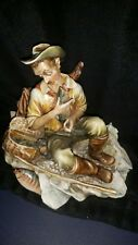 ANTONIO BORSATO FIGURINE STATUE FISHERMAN'S TALE VINTAGE ART SCULPTURE PORCELAIN