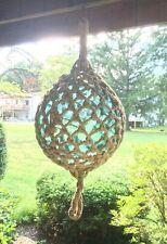 "Antique Huge Glass Fishing Float Nautical buoy Ball 15"" Aqua Color Glass Nice!"