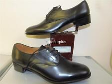 NEW Womens British fad Army Black Leather Lace Shoes WRAC No2 Fad Uniform 8half