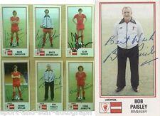 Liverpool 1983 Panini Stickers SIGNED AUTOGRAPHS inc Bob Paisley RARE AFTAL UACC
