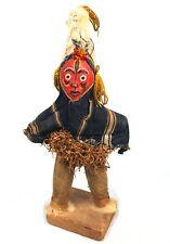 Art Africain - Statue Poupée de Danseur Masqué Dan sur Socle - 33,5 Cms ++++++++