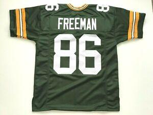 UNSIGNED CUSTOM Sewn Stitched Antonio Freeman Green Jersey - M, L, XL, 2XL