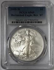 2008 W Burnished Silver Eagle Rev 07 PCGS SP69