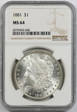 1881 Morgan Dollar $1 MS 64 NGC