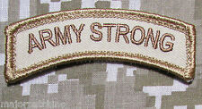 ARMY STRONG ROCKER TAB USA TACTICAL US MILITARY MORALE BADGE DESERT VELCRO PATCH