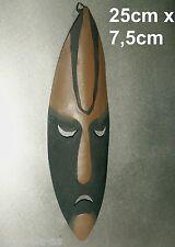 MASKE AFRIKA METALL AFRICA BILD DEKO METALLMASKE MIT AUFHÄNGEÖSE