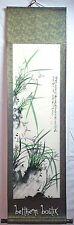 Asie : Kakejiku Tenture Parchemin Peinture Tableau Asiatique Chinois Violette