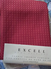 """NEW EXCELL HOME FASHIONS FABRIC SHOWER CURTAIN 70"""" X 72"""" ROSE RED BATHROOM TUB"""