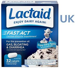 Lactaid FAST ACT (32) Lactase Enzyme Supplement ENJOY DIARY AGAIN! Lactose Intol