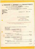 """SAINT-AMAND-MONTROND (18) Ets """"LA PARISIENNE DU BATIMENT & TRAVAUX PUBLICS"""" 1945"""