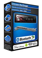 Citroen Berlingo car radio Pioneer MVH-X380BT stereo Bluetooth Handsfree USB AUX