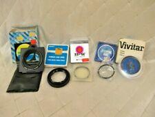 Lot of 5 Camera Lens Filters Vintage Vivitar Kenko Impakt Hood Soft Fokus 58 52