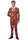 Suitmeister Ugly Christmas Red Light Up 3 piece Men's  Suit Jacket, Pants & Tie