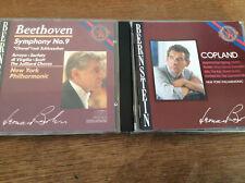 Leonard Bernstein [2 CD álbumes cbs] Beethoven sinfoni 9 + Copland rodeo Billy Kid