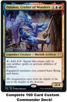 MTG Commander EDH Deck Dalakos, Crafter of Wonders 100 Magic Cards Custom Deck