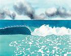 KEN PRICE - Waves (60x47.5), CANVAS, POSTER FREE P&P