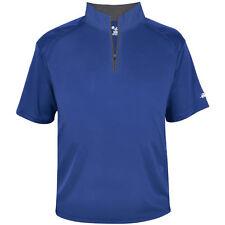 Badger Mens Short Sleeve 1/4-Zip Batting Jacket