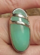 Silpada Sterling Silver Chrysoprase Gemstone Ring Size 7 Signed Thailand