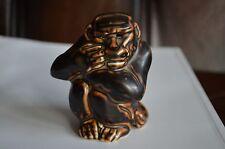 Very Rare Royal Copenhagen Monkey Ape Gorilla Figurine Stoneware Knud Kyhn 20187