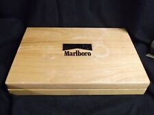 Vintage Marlboro poker set wooden box used