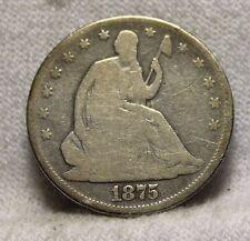 1875 seated half dollar