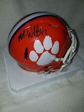 MIKE WILLIAMS  CLEMSON TIGERS SIGNED MINI HELMET W/COA
