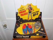 Remco Electronic Walkie Talkies Space Model QX-2 in the Box!