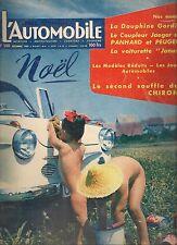 L'AUTOMOBILE 140 1957 DYNA PANHARD & PEUGEOT 403 JAEGER RENAULT DAUPHINE GORDINI