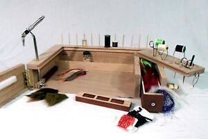 Fly Tying  Work Station PORTABLE (key words  trout fishing fly tying desk vise)