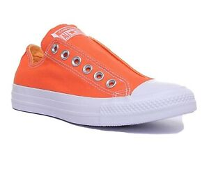 Converse CTAS Slip On Turf Orange Melon White Womens Sneakers 164303C
