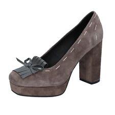 scarpe donna LUCA STEFANI 37 EU decolte beige camoscio BR59-37