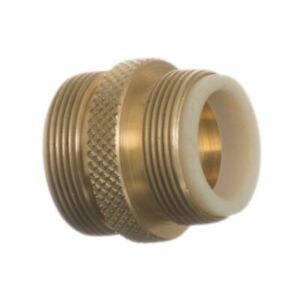 """LM Python No Spill Clean & Fill Male Brass 1 Adapter - (13/16"""" x 27 Male Thread)"""