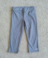 Diadora Cropped Leggings Girls Size Large Gray Polyester/Spandex Fitted Capri
