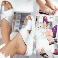 Women Comfy Platform Sandal Shoes  PU LEATHER Bunion Corrector Summer Fashion