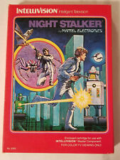 Intellivision Night Stalker by Mattel : Cartridge, Overlays, Instruction and Box