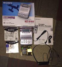 Sony MZ-B100 Portable Minidisc Recorder Complete W/box. +6 Minidiscs. Near Mint