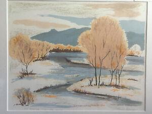 "Louie Ewing  ""Rio Grande in Winter""  Serigraph  20/146"