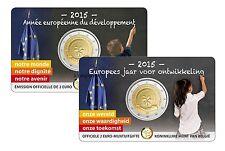 BELGICA 2 EUROS 2015 - CONM. AÑO PARA EL DESARROLLO - EN COINCARD