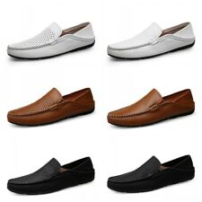 Men's Driving Moccasins Loafers Classic Slip on Lightweight Shoes Gommino Flat L