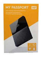 WD 2TB My Passport Portable USB 3.0 Hard Drive - BLACK. NEW MODEL