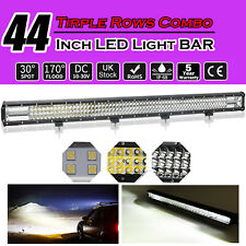 50inch CURVED TRI-ROW 648W LED Light Bar Flood Spot Driving Lamp Offroad TOP MK