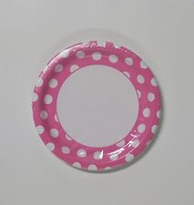 Polka Dot Party Plates Paper Round 8 Count 9 inch - U Pick Color