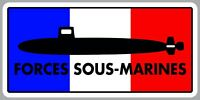 STICKER MARINE NATIONALE SOUS-MARIN FORCES SOUS-MARINES FRANCAISE FA203