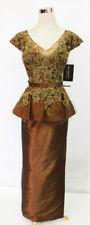 RINA DI MONTELLA 1810-L COCOA Evening Pageant Gown 4 - $690 NWT