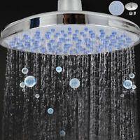 "Swivel Round Shower Head Bath Sprayer 8"" Chrome Stainless Steel Rainfall New"