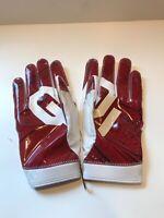 Nike Oklahoma Sooners Superbad Football Gloves White/Red Size 4XL XXXXL RARE SZ