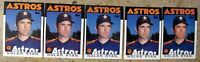 Nolan Ryan 1986 Topps #100 Houston Astros 5ct Card Lot