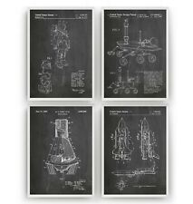 Outer Space Set Of 4 Patent Prints - NASA Poster Wall Art Decor Gift - Unframed