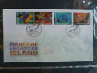 AUSTRALIA 2013 CHRISTMAS Is FISH SET 4 STAMP FDC FIRST DAY COVER