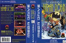 The Adventure Of Batman & Robin Sega Mega Drive Replacement Art Insert For Box